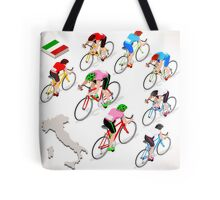 Cyclists Giro Italia Tote Bag