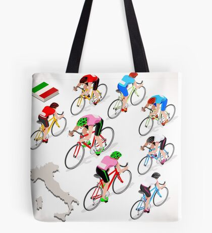 Cyclists Giro Italia Tote Bag