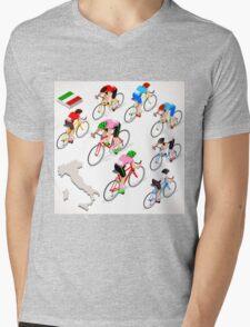 Cyclists Giro Italia Mens V-Neck T-Shirt