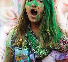 HOLI Indian Color Festival Greenie!  by Heather Friedman