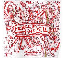 Pierce the veil misadventures album cover Poster
