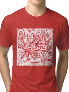 Pierce the veil misadventures album cover Tri-blend T-Shirt