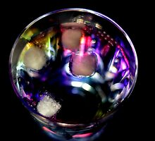 Rainbow Cocktail on Black by Stephen Frost
