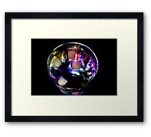 Rainbow Cocktail on Black Framed Print
