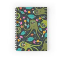 Sea Monster Party Spiral Notebook