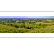 Sussex from South Downs (panorama) Sticker
