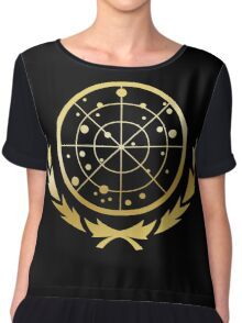 United Federation of Planets Logo: Gold Version Chiffon Top