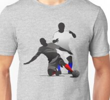 Football players kicking Unisex T-Shirt