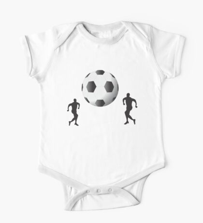 Football players and huge ball art One Piece - Short Sleeve