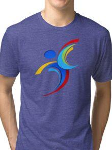 Sport logo design Tri-blend T-Shirt