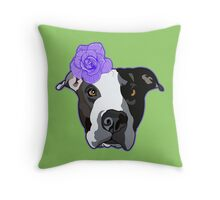 Murphy and the Purple Rose Throw Pillow