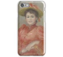 Auguste Renoir - Young Woman in Red Dress  1892 Woman Portrait iPhone Case/Skin