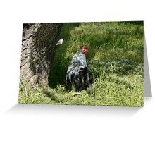 Silver Phoenix rooster Greeting Card