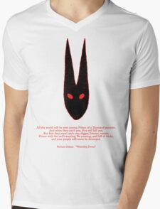 Watership Down RED Mens V-Neck T-Shirt