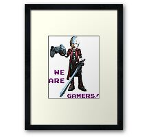 Inspired by Dante of Devil May Cry Framed Print
