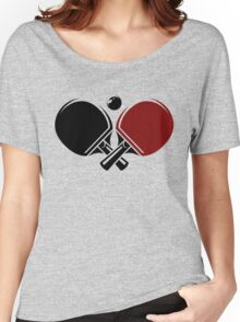 Table tennis logos design Women's Relaxed Fit T-Shirt