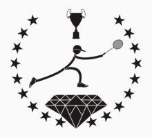Badminton logo design Kids Tee