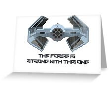 The Force is strong with 8-bit. Greeting Card