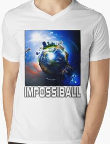 Flat Earth Impossiball Mens V-Neck T-Shirt