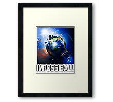 Flat Earth Impossiball Framed Print
