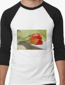 tulip in the garden Men's Baseball ¾ T-Shirt