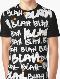 BLAH BLAH black Graphic T-Shirt