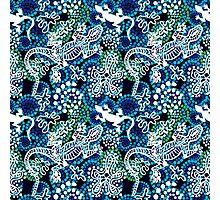 Boho style seamless pattern with Australian aboriginal arts motifs. Photographic Print