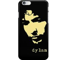 bob dylan simply decal style black and yellow iPhone Case/Skin
