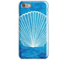 Shell, Illustration Over Nautical Map iPhone Case/Skin