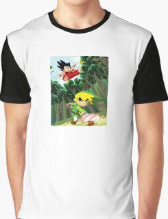 Link vs Kid Goku Graphic T-Shirt