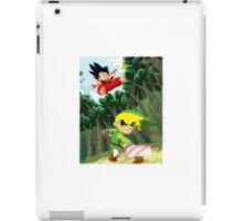 Link vs Kid Goku iPad Case/Skin