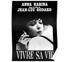 VIVRE SA VIE - JEAN LUC GODARD Poster