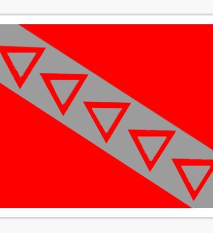 Flag of Tau Kappa Epsilon Sticker