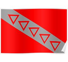 Flag of Tau Kappa Epsilon Poster