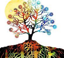Spiritual Art - Tree Of Life by Sharon Cummings