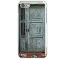 Weathered Gray Door in a Wall iPhone Case/Skin