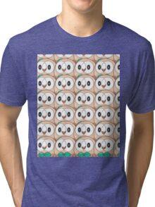 Rowlet (too many) Pokemon shirt Tri-blend T-Shirt