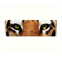 Tiger Art - Hungry Eyes Art Print