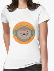 Sloth Jams Womens Fitted T-Shirt