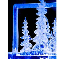 An Icy Blue Christmas Photographic Print
