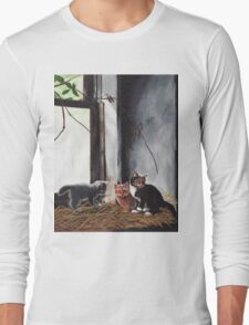 Kittens Playing Long Sleeve T-Shirt