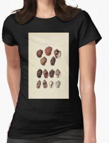 Thesaurus conchyliorum Monographs of genera of shells George Brettingham Sowerby 1887 V1-V5 341 Womens Fitted T-Shirt