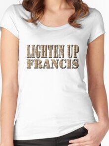 LIGHTEN UP FRANCIS - desert camo Women's Fitted Scoop T-Shirt