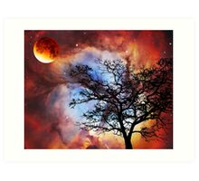Night Sky Landscape Art By Sharon Cummings Art Print