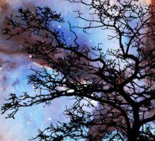 Night Sky Landscape Art By Sharon Cummings Sticker