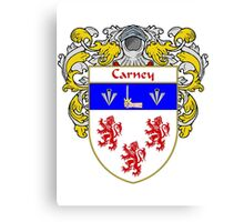 Carney Coat of Arms/Family Crest Canvas Print