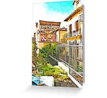 L'Aquila: collapsed house Greeting Card