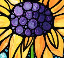 Standing Tall - Sunflower Art By Sharon Cummings Sticker