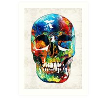 Colorful Skull Art - Aye Candy - By Sharon Cummings Art Print