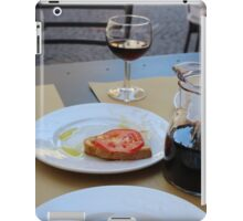 Food on a Table in Orvieto iPad Case/Skin